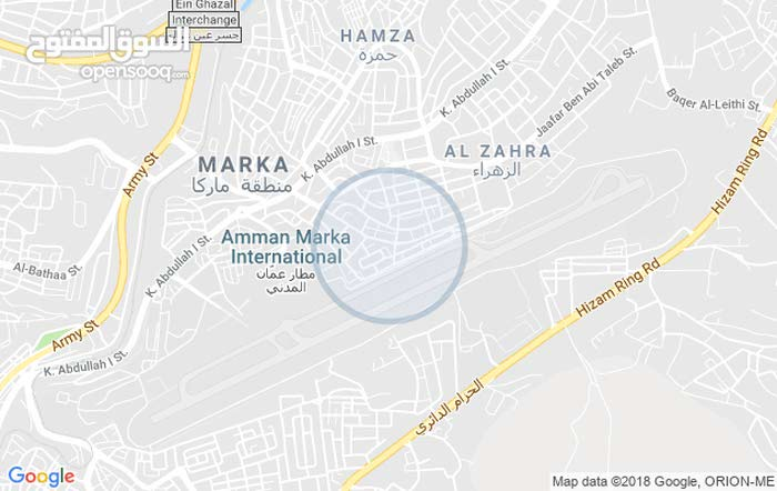 Third Floor  apartment for rent with Studio rooms - Amman city Marka
