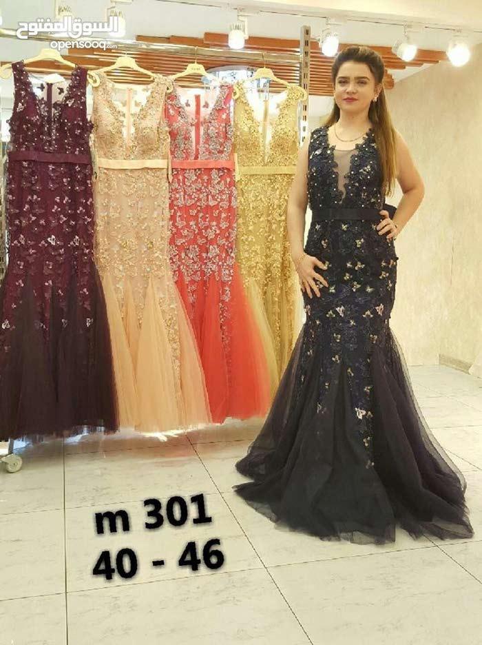 فستان سهرة وارد تركيا سعر مخفض متوفر الوردي والكحلي