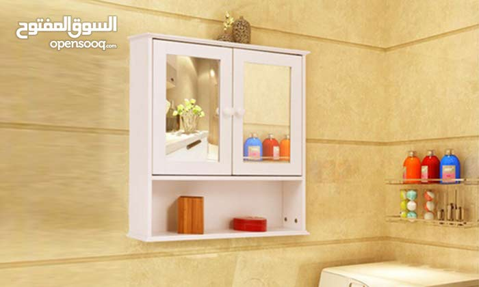 Bathroom Wall Cabinet Double Mirror Door Cupboard Storage Wood Shelf