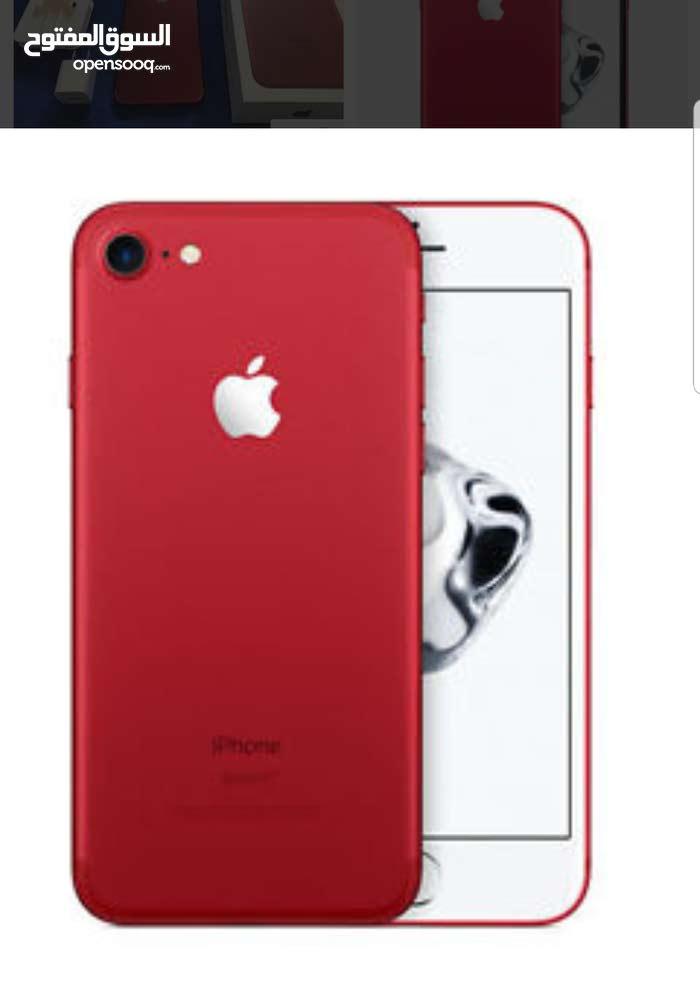 جهاز iphone 7 128GB مستعمل لون احمر كامل اغراضه مكفول للبيع بسعر 340د 0798130063