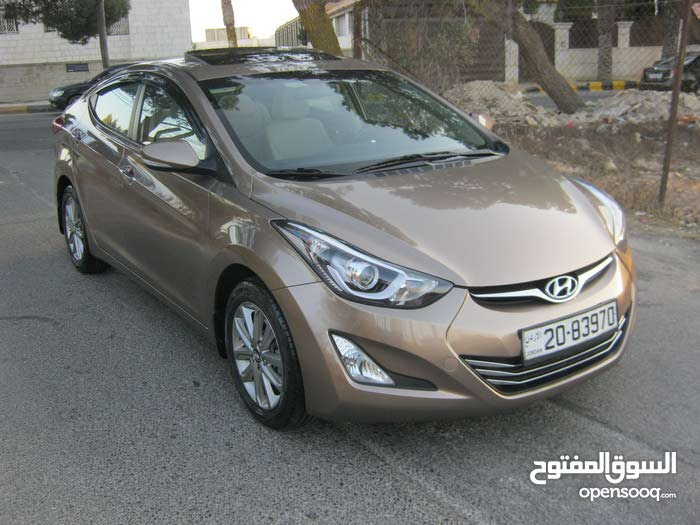 Brown Hyundai Elantra 2014 for sale