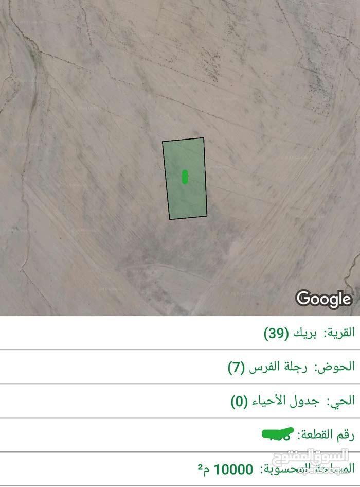 للبيع ارض 10 دونم في بريك جنوب عمان