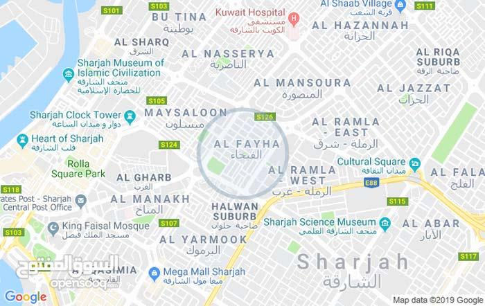 ملحق من فلا  منطقة الفيحاء الشارقه غرفه مع حمام