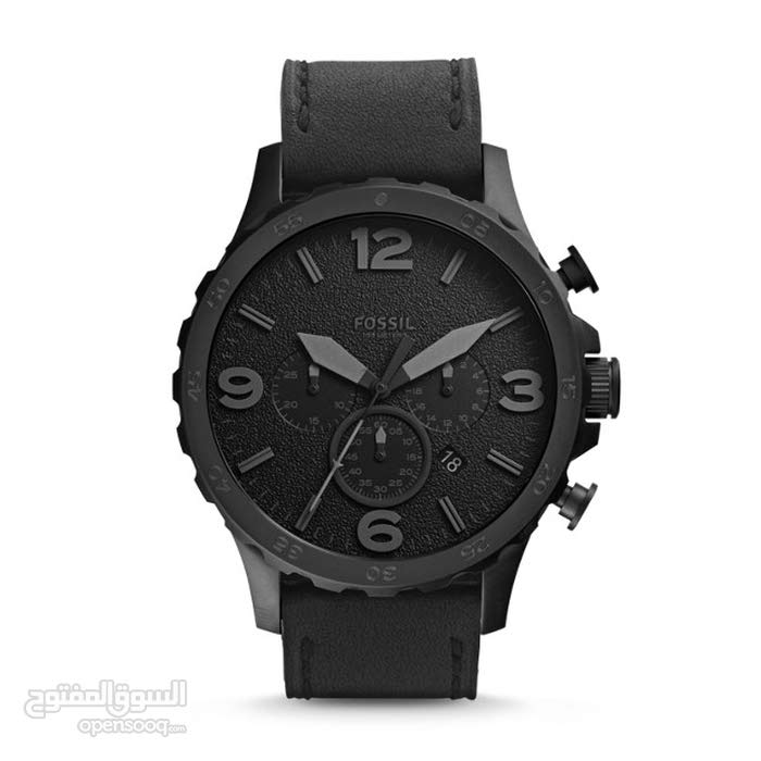 Nate Chronograph Black Leather Watch\JR1354P