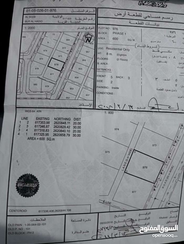 فرصة للبيع أرض سكنية بموقع ذهب بالمعبيلة بلوك1