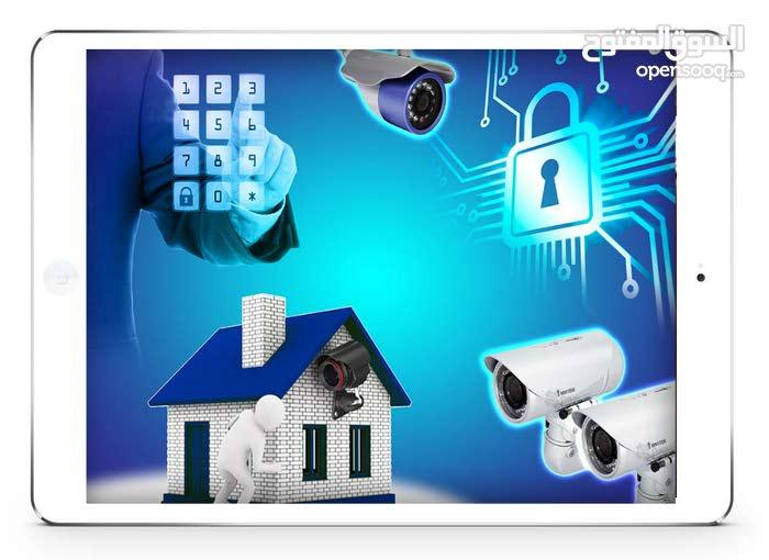 تركيب وبرمجة وصيانة كاميرات المراقبة والمقاسم والشبكات
