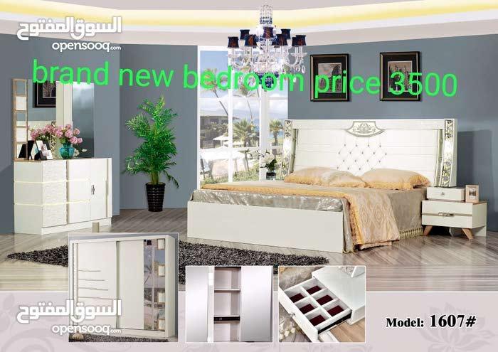 غرفة نوم مجموعة جديدة اللون الأسود البني والأبيض