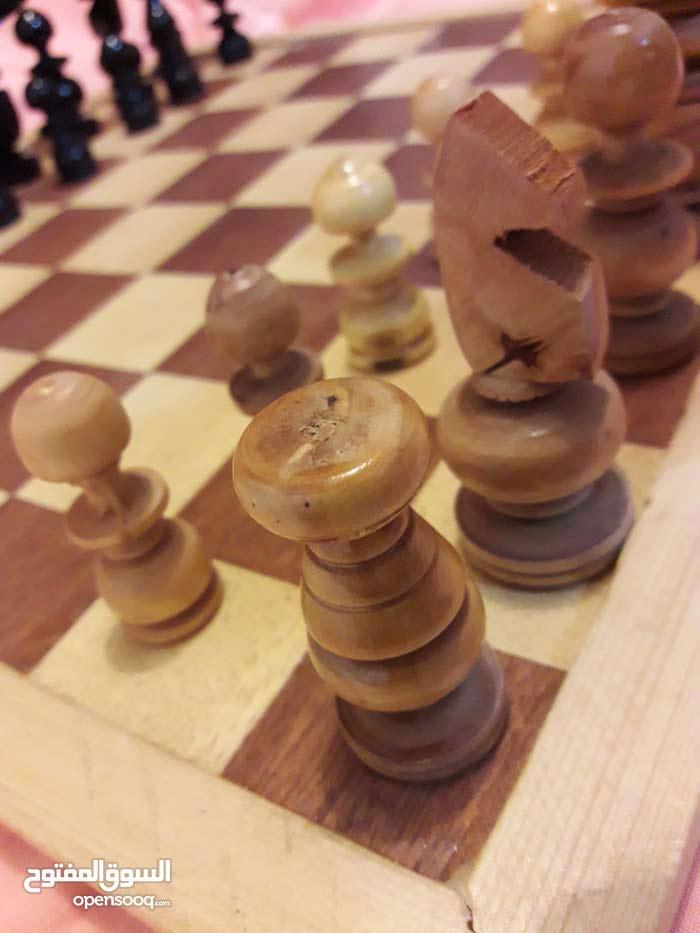 شطرنج خشب زان صناعة مصرية