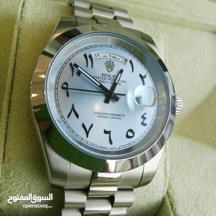 ساعة روليكس عربية الارقام مع تاريخ عربي وايام بالعربي