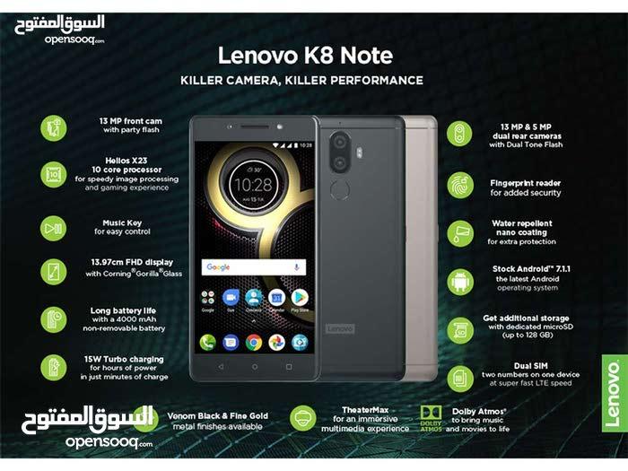 Lenovo K8 Note ذاكره 64 رام 4 بصمه