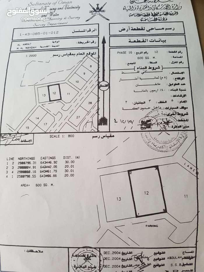 فرصة للبيع ارض في مدينة النهضة مربع 14
