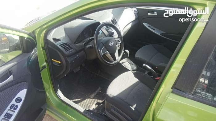 2013 هونداي اكسنت محرك 1600 سي سي اتوماتيك فحص 3جيد وواحد خلفي راسيه، السعر 8900