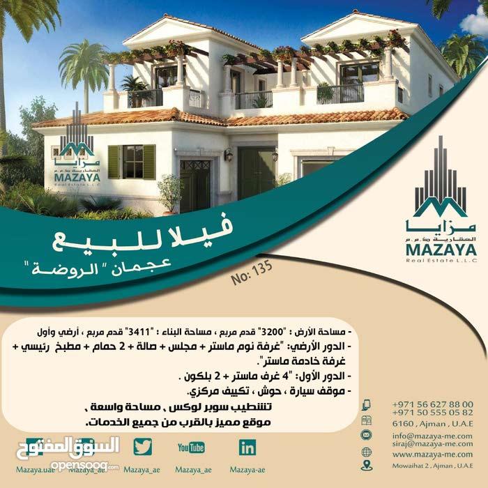 Villa in Al Rawda - Ajman and consists of More Rooms and More than 4 Bathrooms