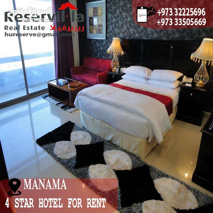 For Rent 4-star Hotel -Prime Location in Manama Area