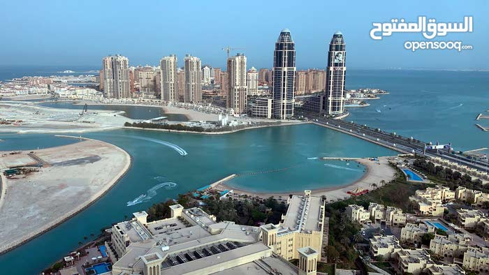furnished apartment for rent in zigzag tower with excellent view on pearl and Doha