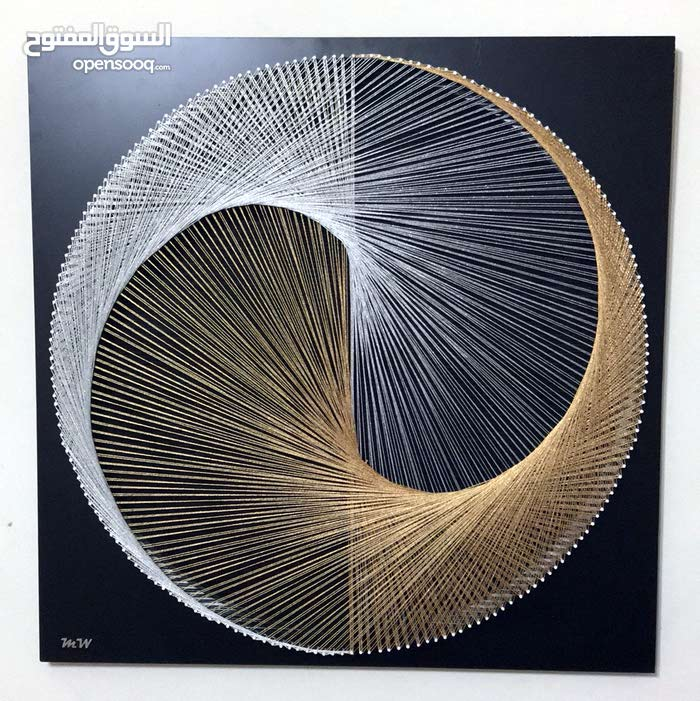 لوحه خيوط عمل يدوي  ..... string Art , hand made