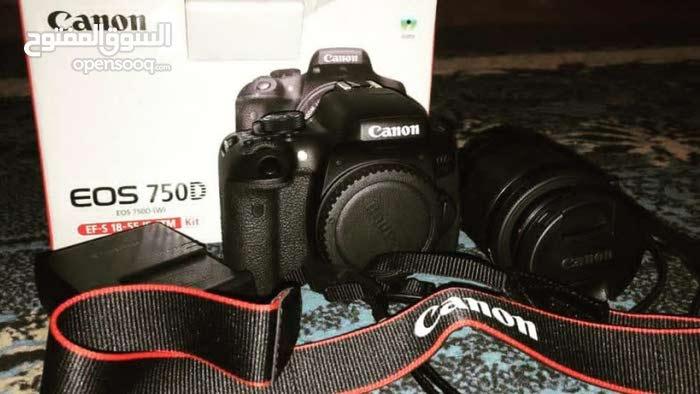 كاميرا كانون EOS 750D موديل حديد للناس لي تبي تتعلم الأحتراف  عدسة 18-55