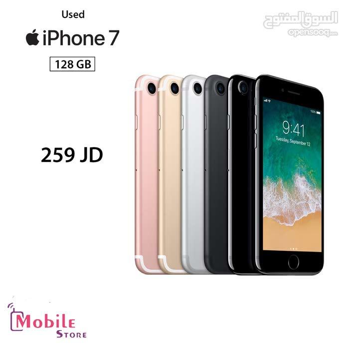 بأقل سعر في المملكة  iPhone 7 128 GB مستعمل بحال الوكالة