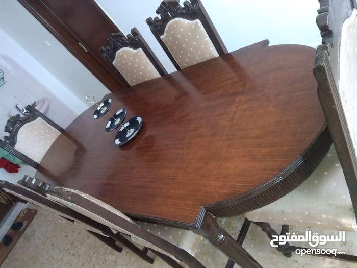 طاوله سفره 6 مقاعد خشب زان اصلي