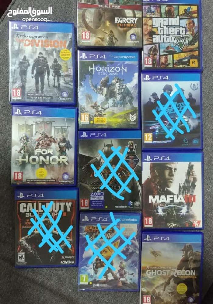 مجموعه من 8 العاب PS4 للبيع