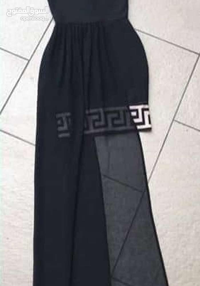 فستان سهرة شيفون لون أسود