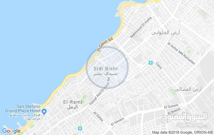 شقة دور أرضى خلف محل بشارع عبد الهادى الجزار متفرع من محمد نجيب سيدى بشر