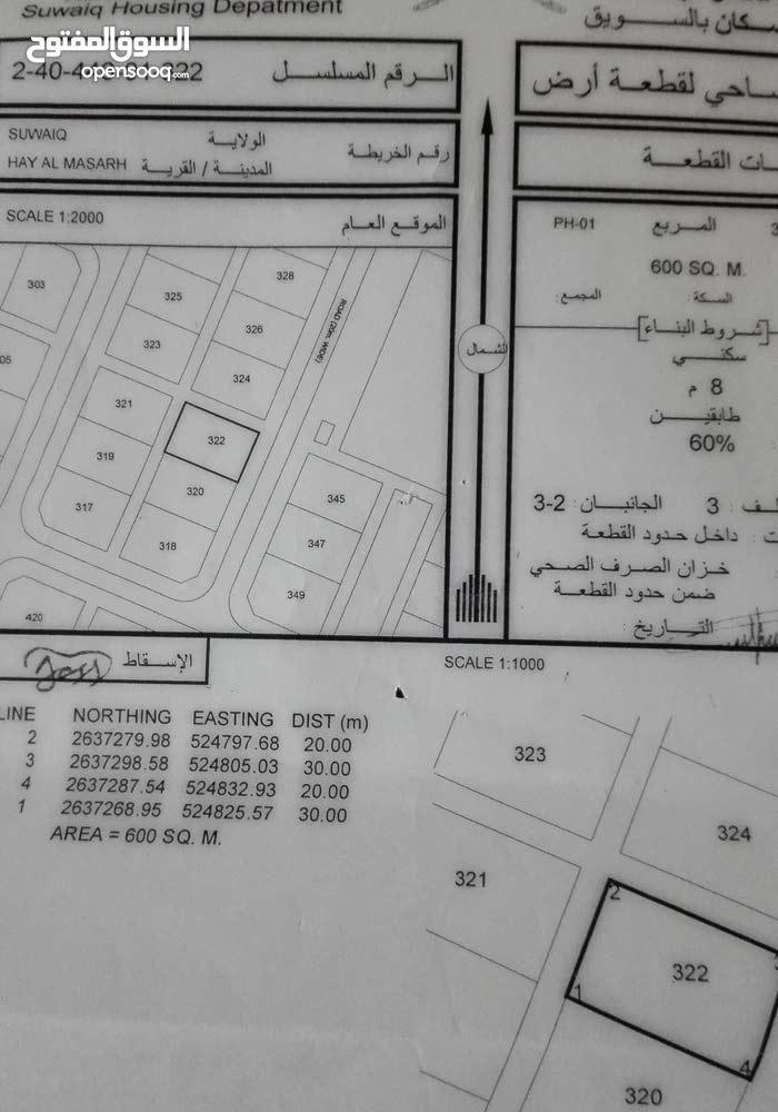 ارض لبيع فےِ الخضرا الجديده مثل ماواضح فےِ الكروكي تواصل عَلَى رقم 92595871