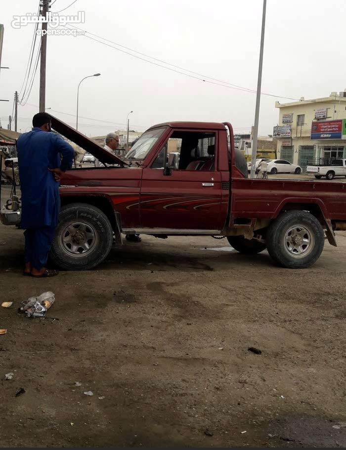 Red Toyota Land Cruiser Pickup 1992 for sale