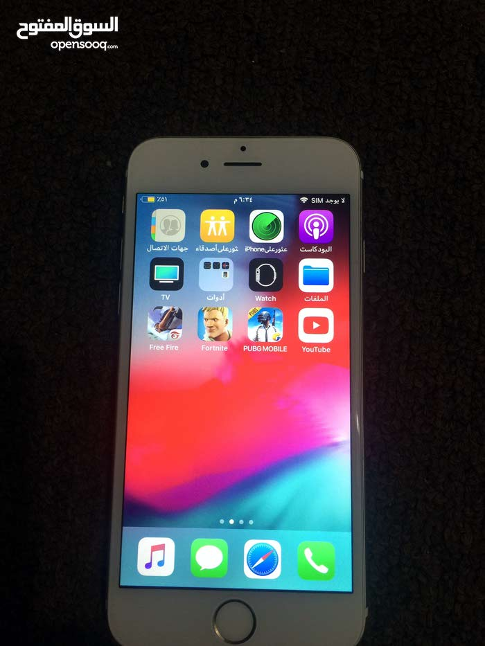 ايفون 6s بحاله ممتازه مامعو شي الجهاز مش مفتوح ونظيف جدا 128 غيغا