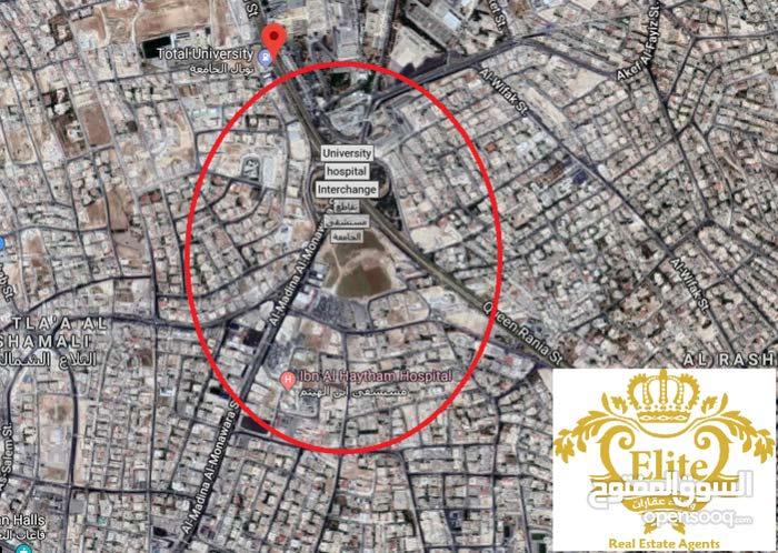 مجمع تجاري مكاتب لليع في الاردن - عمان - شارع الجامعه الاردنيه مساحه 1600م