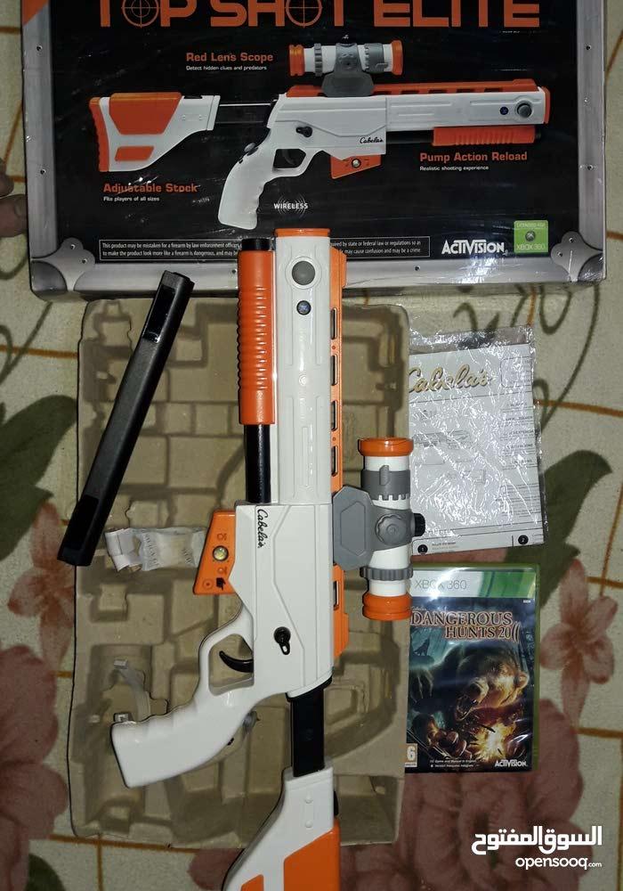 يد تحكم على شكل بندقية للاكس بوكس 360 (بحالتها كالجديدة)