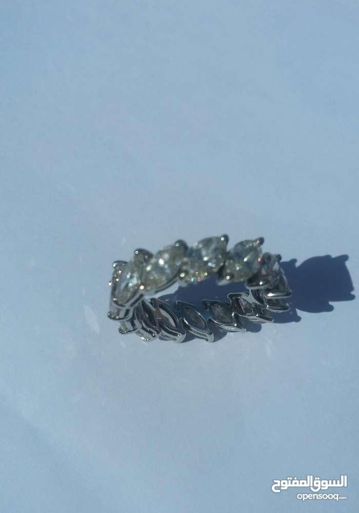 خاتم من الماس الوزن الإجمالي 4,5g