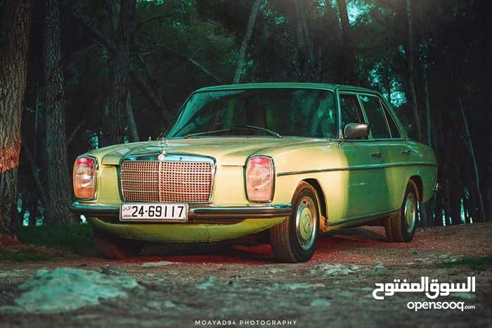 Manual Green Mercedes Benz 1975 for sale